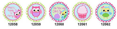 Birthday Owls 12058-12062