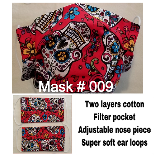 Cloth Masks - Pleated Style - Non-medical Grade
