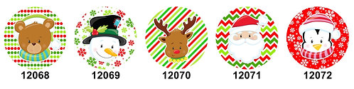 Christmas Faces 12068-12072