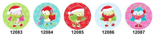 Cute Christmas Birds 12083-12087