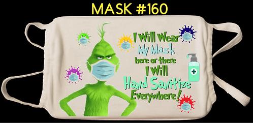 Grinch Digital Masks #160-169
