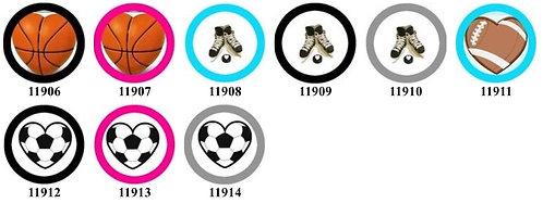 Sport Ball Hearts 11906-11914