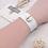 Thumbnail: White Single Snap Silicone Slap Bracelet+ 3 FREE SNAPS