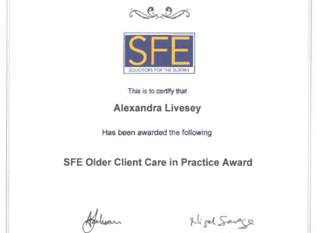 Solicitors for the Elderly – Update