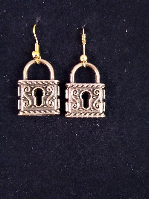 Steampunk metal earrings