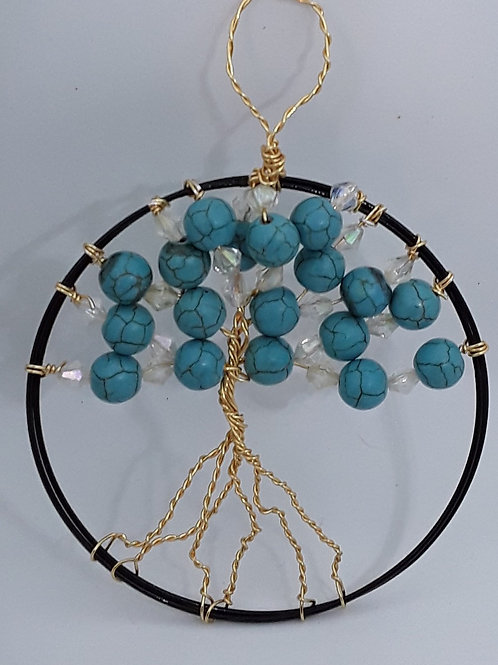 "3"" Turquoise coloured small Tree of Life"
