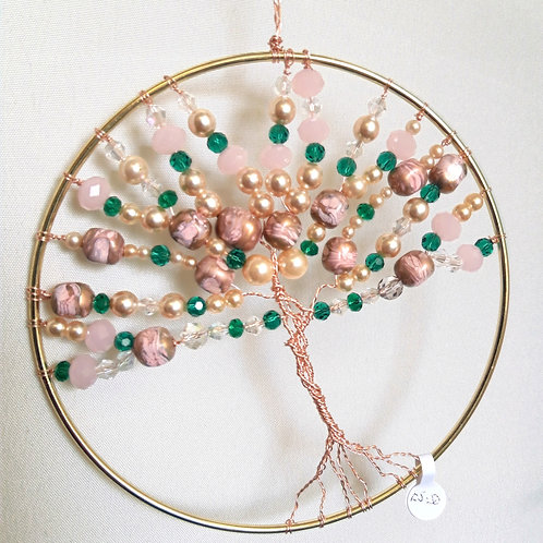 "6"" Tree of Life in pink tones"