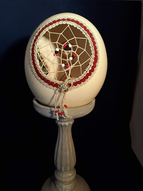 Ostrich Egg Dreamcatcher Lamp