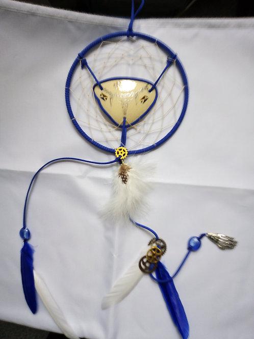 Blue/White Ostrich Egg Dreamcatcher