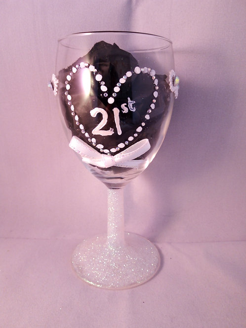 21st Wine Glass