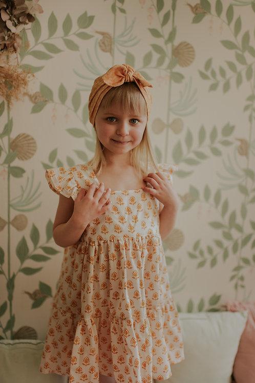 Robe Orabelle, fleur orangée