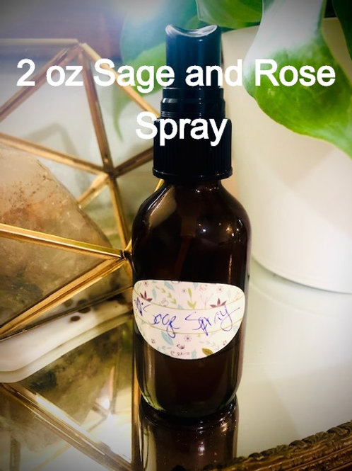 Sage & Rose Water Energy Cleansing Spray