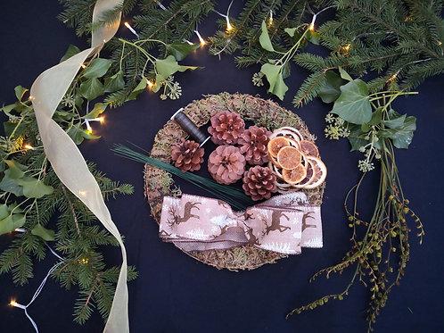 Christmas wreath kit for 6
