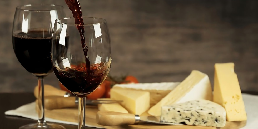 Cheese and wine with friends