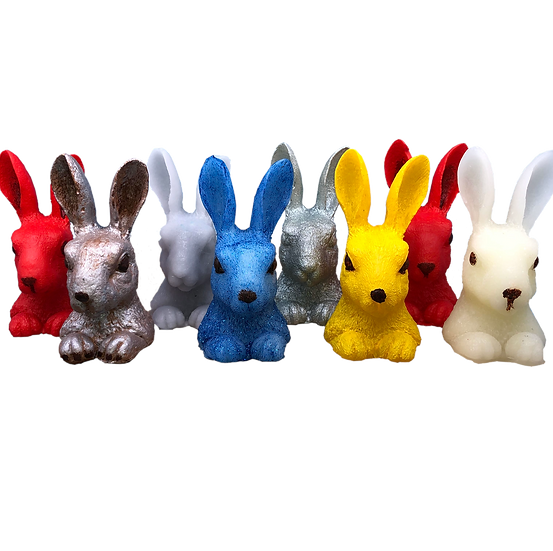 Happy Rabbits - fun candle wax models