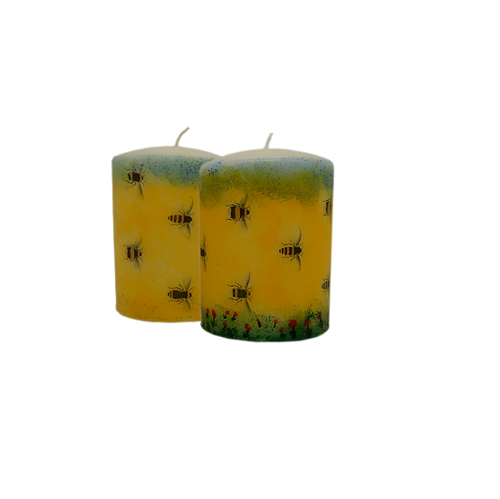 A Swarm of bees in a meadow Decorative Candles