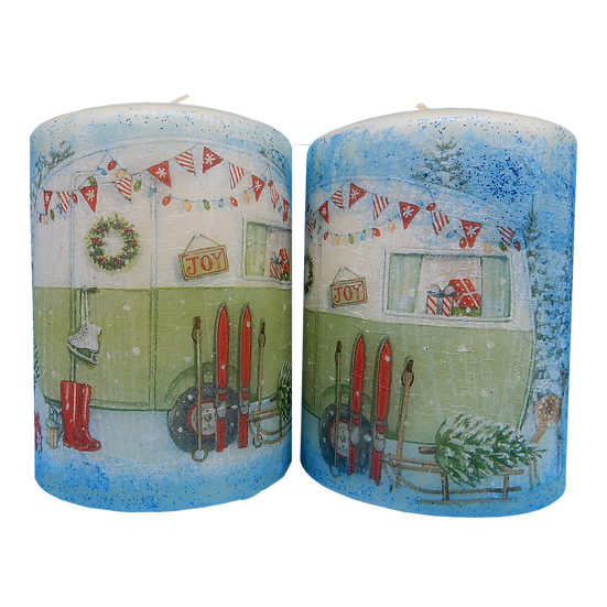 """Joy at Christmas"" Decorative Candles"