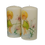 Thumbnail: Young girl gazing into pond Candle set of two