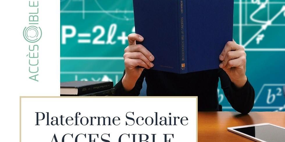 Découverte d'Accès-Cible - Plateforme scolaire