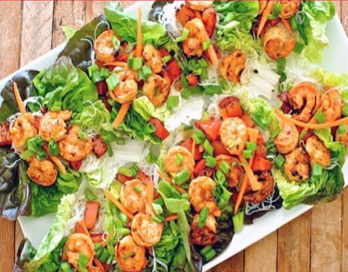 CharBoy's Hot & Sweet Asian Shrimp Lettuce Cups