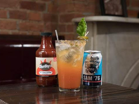 Sam '76 Bloody Michelada with Charboy's Hot & Spicy Ketchup