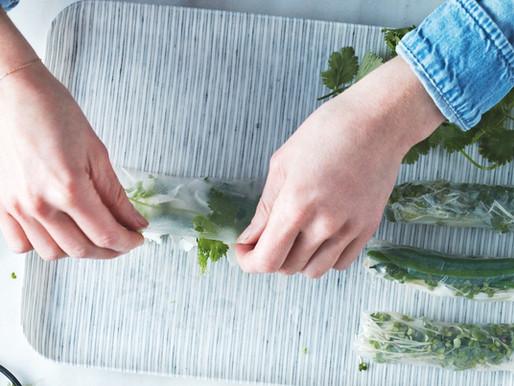 Green bean summer rolls recipe