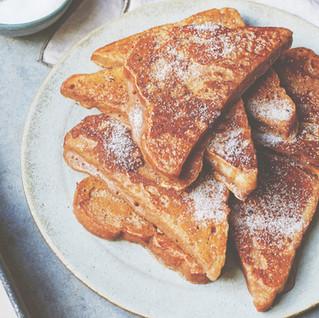 Vegan chai French toast
