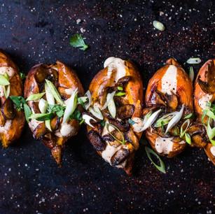 Vegan sweet jacket potato recipe