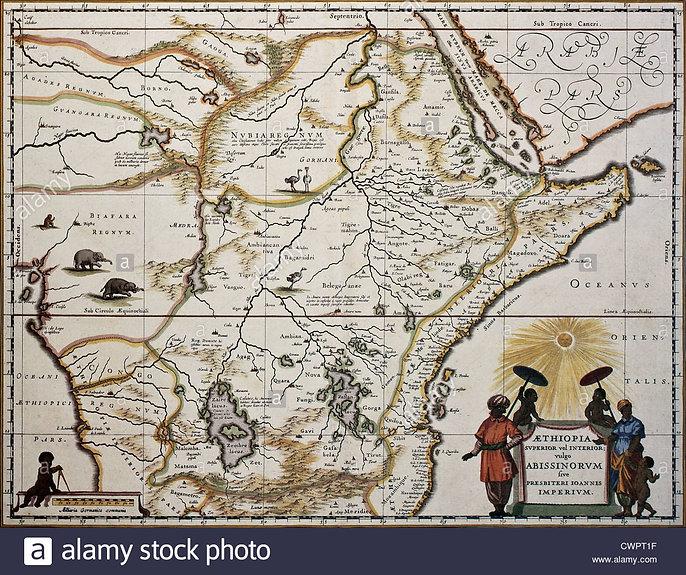 ethiopia-old-map-CWPT1F.jpg