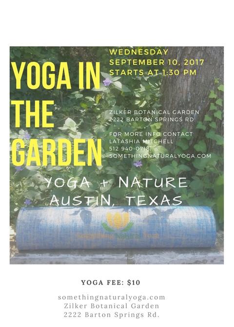 Zilker Botanical Garden Yoga Class
