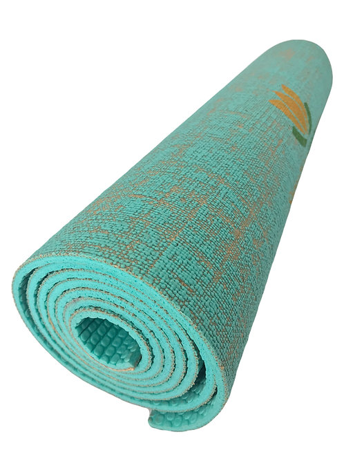 Eco-Friendly Texas Jute Yoga Mats (Turquoise)
