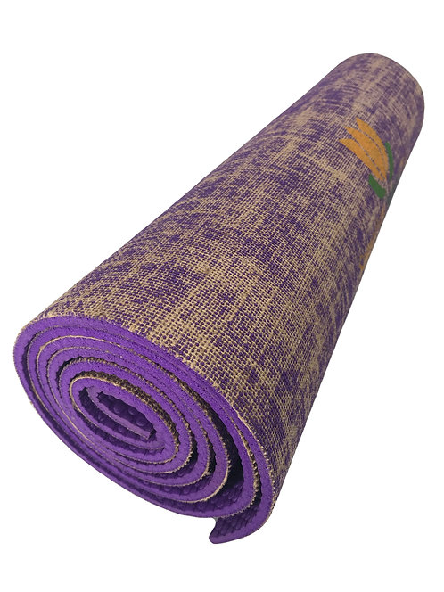 Eco-Friendly Texas Jute Yoga Mat (Purple)