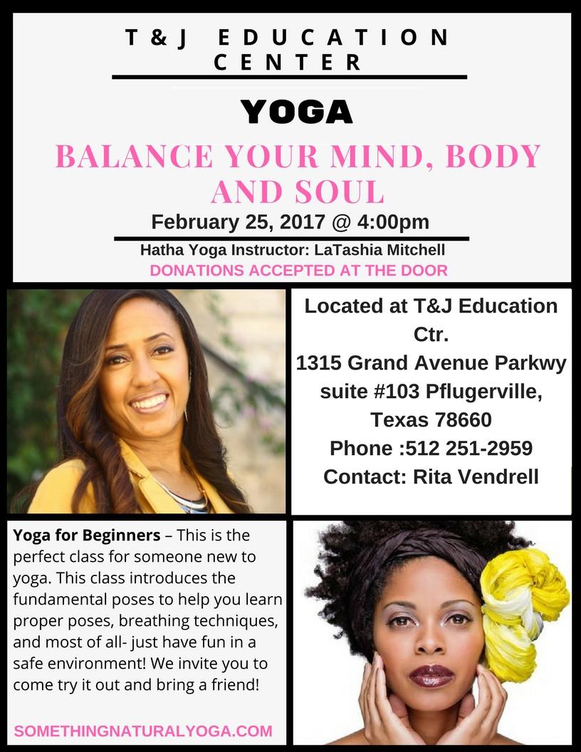 LaTashia Mitchell Of Something Natural Yoga works with her Community!