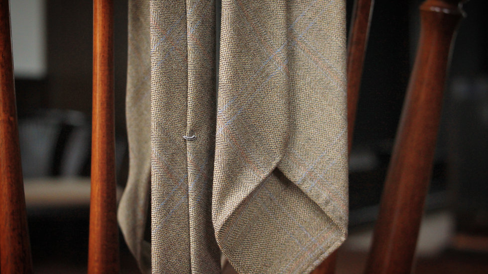 Greenish Check Tie