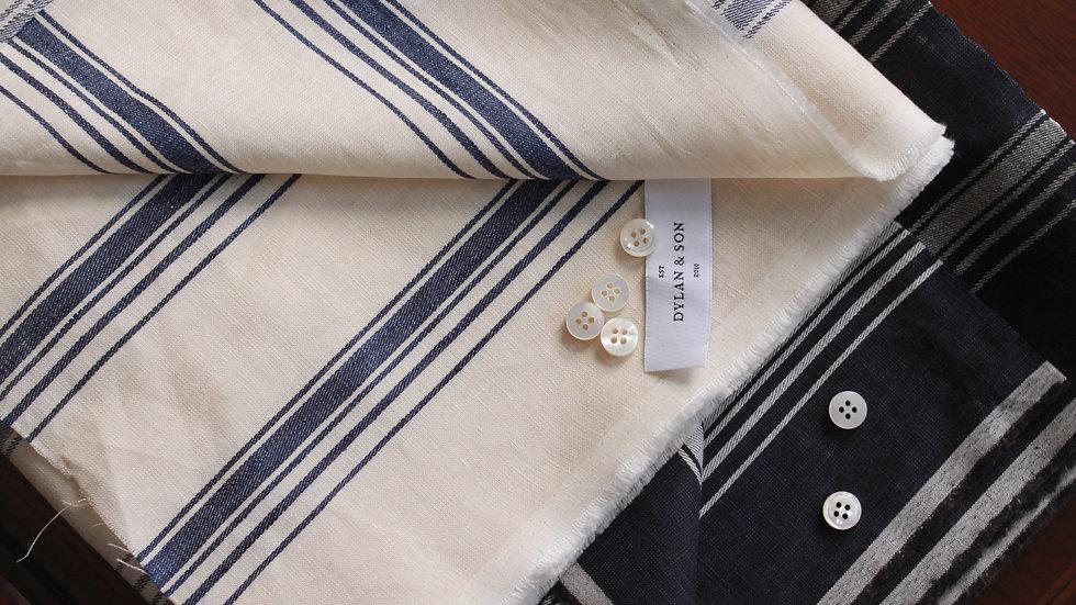 Irregular Stripe Linen Shirting (1.8 meters)