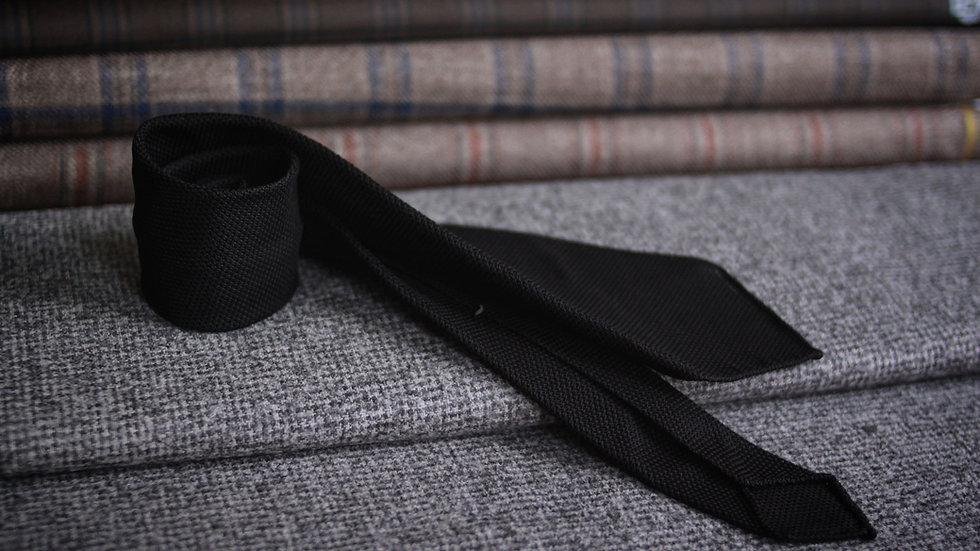 Black Grenadine Tie