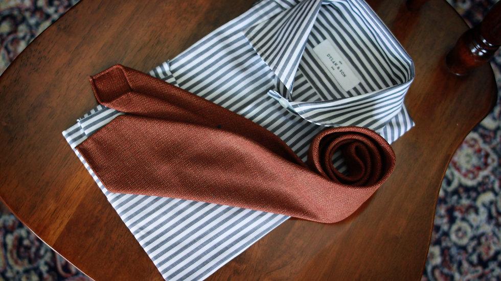 Rust Hopsack Tie