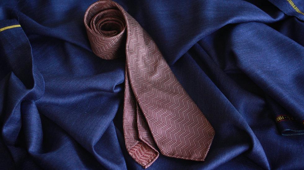 Aubergine Herringbone Tie