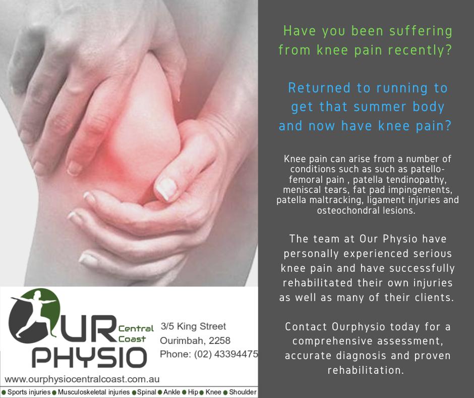 Physio, knee pain, central coast