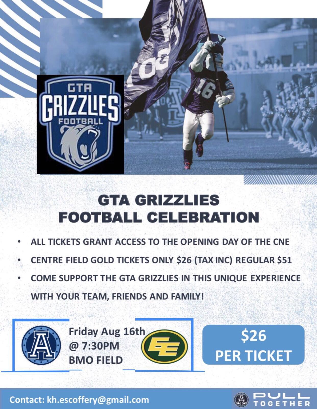 GTA Grizzlies Football Celebration!