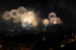 Exhibición de fuegos artificiales