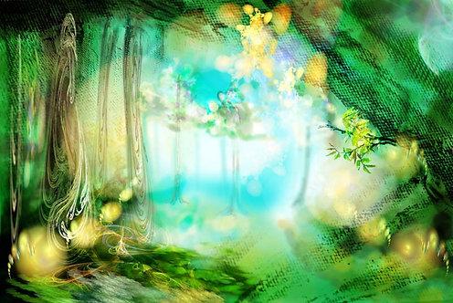 Волшебный абстрактный лес