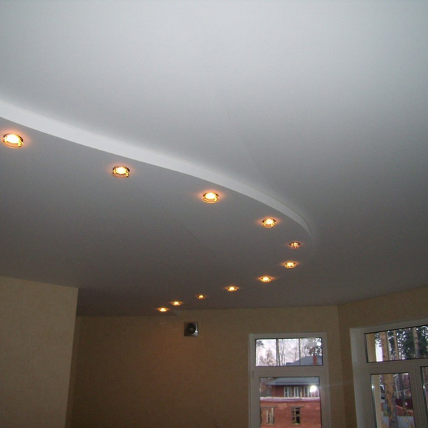 stretch-ceiling-hall-white-matt-two-leve