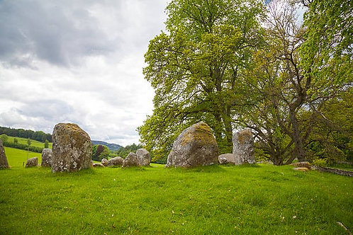 Фотообои. Фрески. Картины. Croft Moraig Stone Circle. Аберфелди. Шотландия