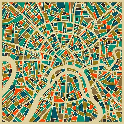 Карта Москвы в художественном стиле