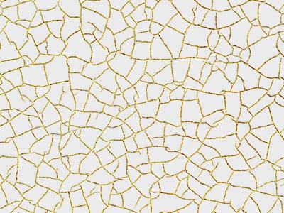 """Фреска ручной работы с матовой фактуройс """"паутинкой"""" мелких трещин и нанесением золотистой крошки"""