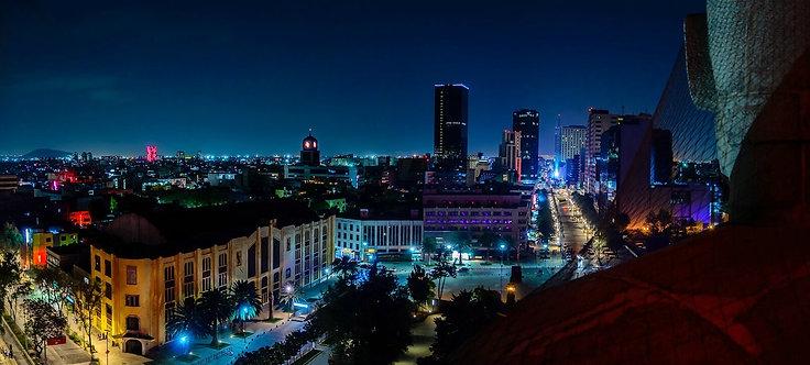 Ночной вид Мехико