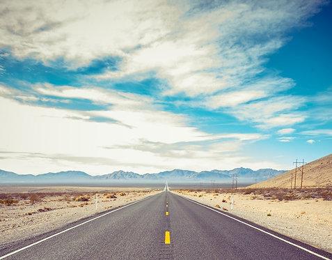 Фотообои. Фрески. Картины. Пустыня. Дорога. США. Природа. Пейзаж. Перспектива