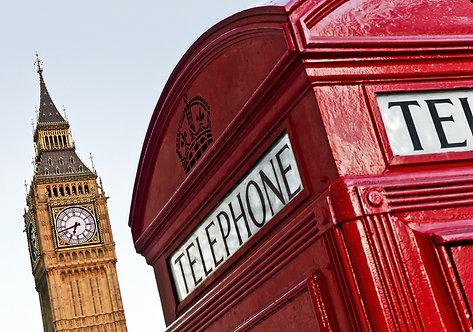 Красная телефонная будка и Биг-Бен - Лондон