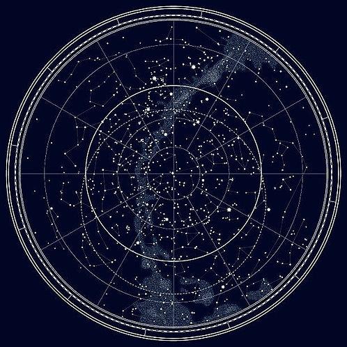 Астрономическая карта северного полушария